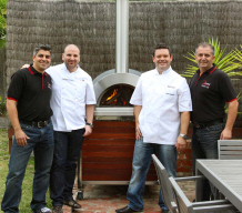 Gary Mehigan & George Calombaris with Chris & Theo from Zesti Ovens